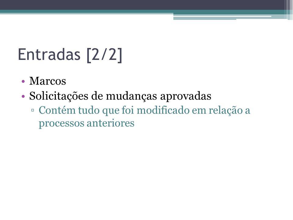 Entradas [2/2] Marcos Solicitações de mudanças aprovadas